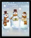 May Your Christmas art print poster with simple frame