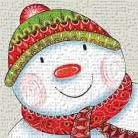 Happy Snowman art print poster transferred to canvas