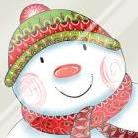 Happy Snowman art print poster with laminate