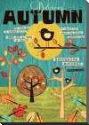 Autumn art print poster with block mounting