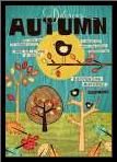 Autumn art print poster with simple frame