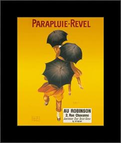 Parapluie-Revel art print poster with simple frame