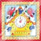 Hickory Dickory Dock art print poster with laminate