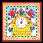 Hickory Dickory Dock art print poster with simple frame