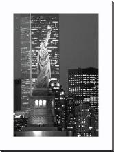 New York Bandw art print poster with block mounting