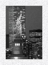 New York Bandw art print poster transferred to canvas