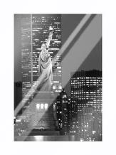 New York Bandw art print poster with laminate