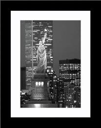 New York Bandw art print poster with simple frame