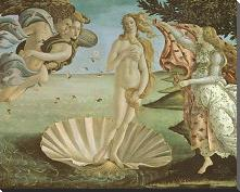 Birth of Venus art print poster with block mounting