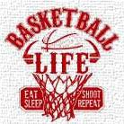 Basketball Life Red art print poster transferred to canvas