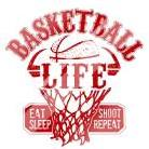 Basketball Life Red art print poster with laminate
