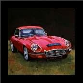 Red Car art print poster with simple frame