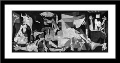 Guernica art print poster with simple frame