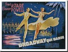 Broadway art print poster with block mounting