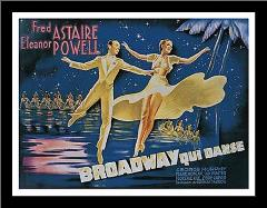 Broadway art print poster with simple frame