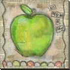 An Apple a Day art print poster with block mounting