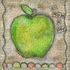 An Apple a Day art print poster transferred to canvas
