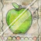 An Apple a Day art print poster with laminate