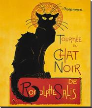 Tournee Du Chat Noir art print poster with block mounting