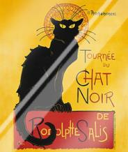 Tournee Du Chat Noir art print poster with laminate