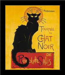 Tournee Du Chat Noir art print poster with simple frame