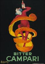 Bitter Campari art print poster transferred to canvas