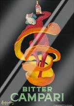 Bitter Campari art print poster with laminate