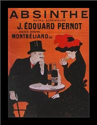 Absinthe Extra Superior art print poster with simple frame
