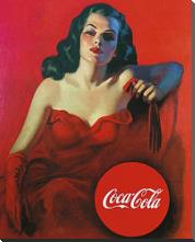 Coca-Cola art print poster with block mounting