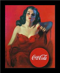 Coca-Cola art print poster with simple frame