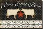 Country Kitchen - Home Sweet Home art print poster with block mounting