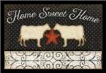 Country Kitchen - Home Sweet Home art print poster with simple frame