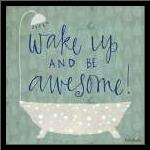 Be Awesome Bath art print poster with simple frame