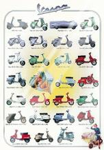 Vespa art print poster with laminate