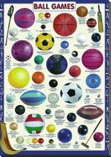 Ball Games art print poster with block mounting
