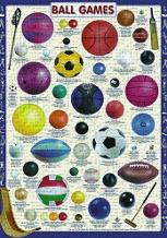 Ball Games art print poster transferred to canvas