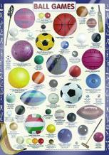 Ball Games art print poster with laminate