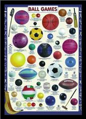 Ball Games art print poster with simple frame