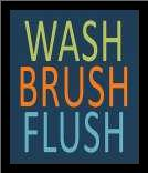 Fish Wash Brush Flush art print poster with simple frame