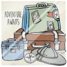 Adventure Awaits art print poster with laminate