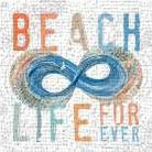 Beach Life art print poster transferred to canvas