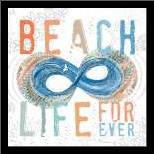 Beach Life art print poster with simple frame