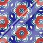 Red White and Blue Flowers II art print poster with laminate