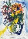 Blue and Yellow Still Life blu art print poster transferred to canvas