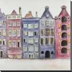 Old Historic Houses Amsterdam art print poster with block mounting
