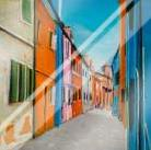 Colorful Houses in Italy art print poster with laminate