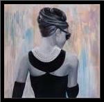Audrey Hepburn Abstract Style Back View art print poster with simple frame