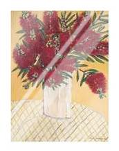 Bottle Brush art print poster with laminate