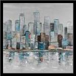 Abstract Urban Skyline art print poster with simple frame