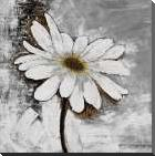 Abstract Daisy Flower art print poster with block mounting